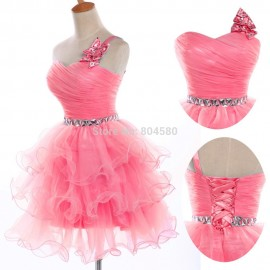 design colorful Sweetheart Sequin Bodice short Party Dresses Homecoming Cocktail dress Formal Prom Gown CL4589