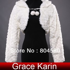 Fashion Bridal shawl Wedding dress Wraps Warm Jacket Coat Long sleeve Fur bolero For Winter CL4944