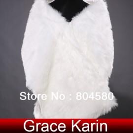Retail Fashion Warm Ivory Faux Fur Wedding Bridal Bride Wrap Shawl Cape Tippet for party CL4946