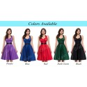 Spring Sexy Halter 1950s Style Rockabilly Dress Women Casual Party Gown Cheap Knee Length Vintage Dresses Plus Size Red Black