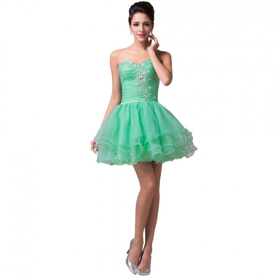 Vestido Madrinha Cheap Mini Length Wedding Party Dresses Mint Green ...