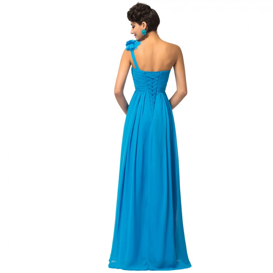 de Novia Largo Sexy One Shoulder Long Bridesmaid Dresses for Party ...