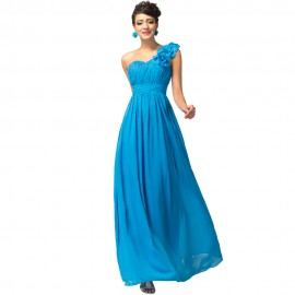 Vestido de Novia Largo Sexy One Shoulder Long Bridesmaid Dresses for Party Red Champagne Prom Dress Chiffon Wedding Events 4287
