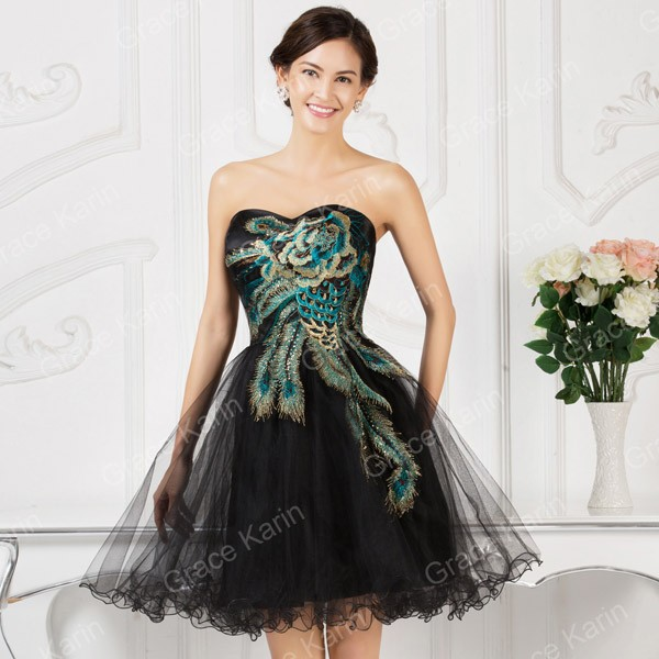 5ColorsKneeLengthCorsetCheapBridesmaidDressesShortBridesMaidWeddingPartyDressAppliquesFormalBallGowns7541-32350793552