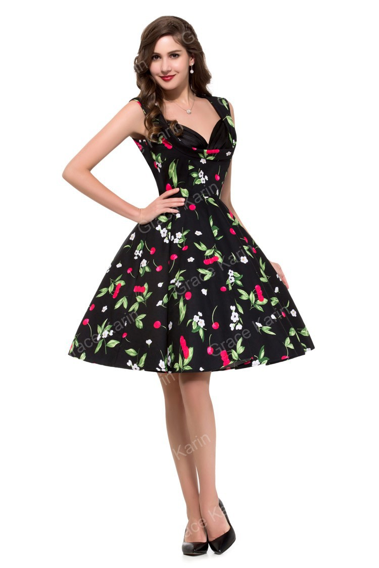 Country Desigual 50s Women Summer Dress Sleeveless Vintage ...