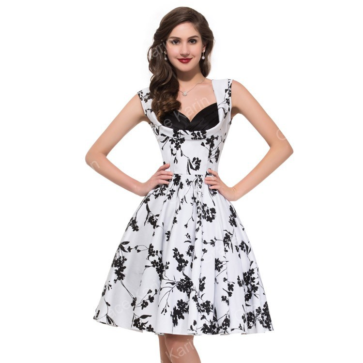 Country Desigual 50s Women Summer Dress Sleeveless Vintage ...