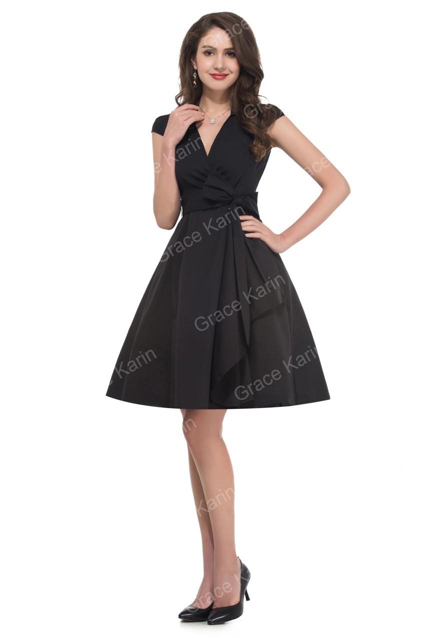 Elegant Turn Down Collar Short Sleeve Vintage Dresses Plus