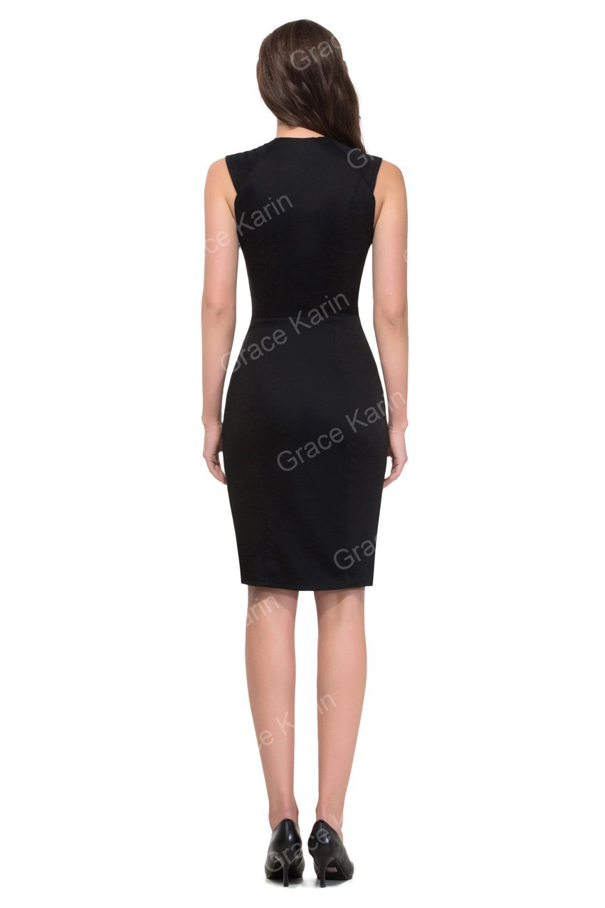 Grace Karin Short Sleeve Red Black Cocktail Dresses Short