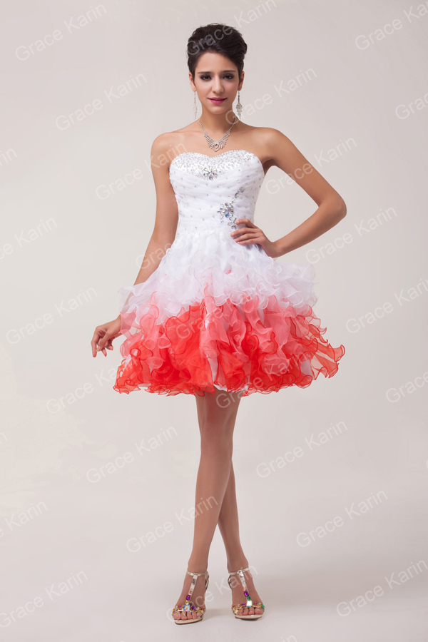 Design Organza Colorful Short Homecoming Dresses Prom Gowns