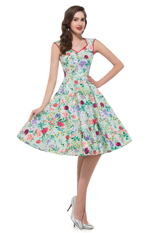 Summer Style Women Sleeveless Casual Flower Pattern Floral ...